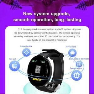 Image 2 - D18 pulseira inteligente banda rastreador de fitness heart rate mensagens de pressão arterial lembrete tela colorida à prova dwaterproof água esporte pulseira