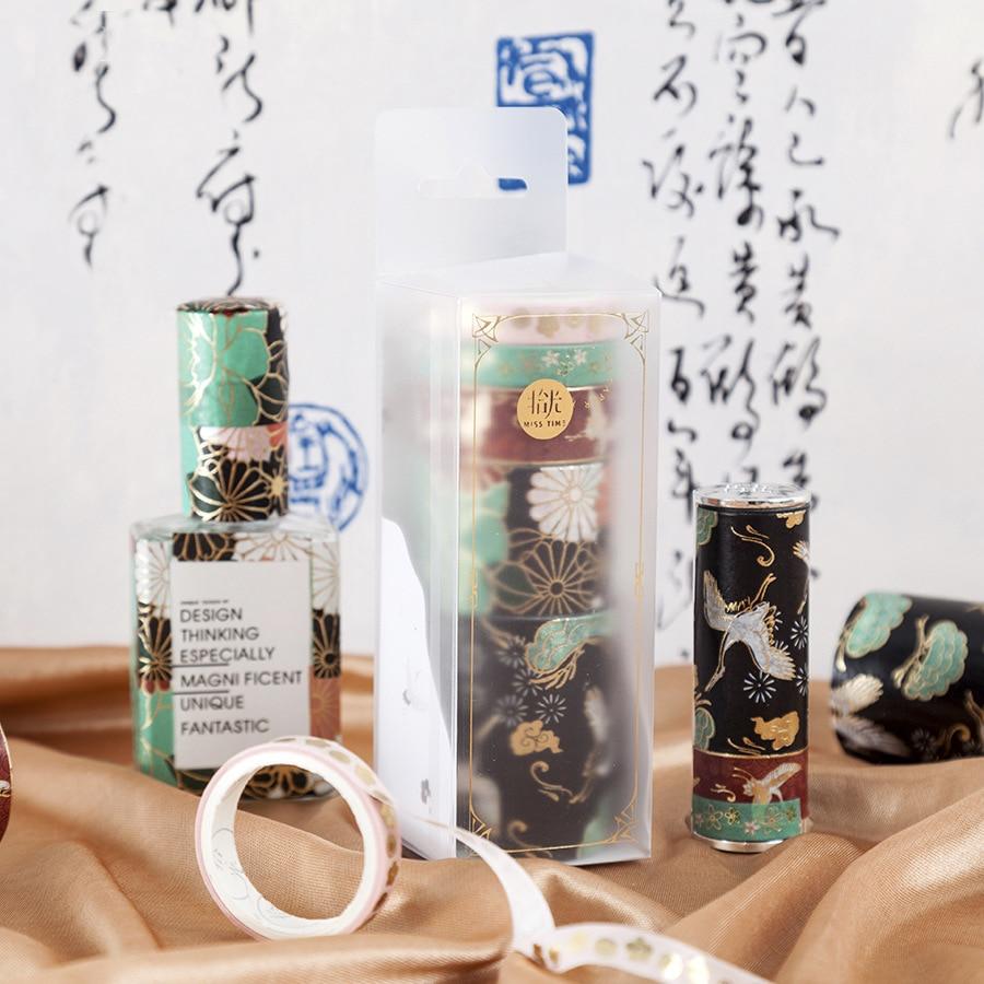 * Kawaii Brocade Series Set  Washi Masking Tape Paper Stickers Scrapbooking Stationery DIY Decorative Tape