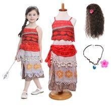 Księżniczka noworodek maluch dziewczynki Cosplay stroje nowa sukienka impreza przebierana element ubioru letnia odzież przygodowa Vaiana