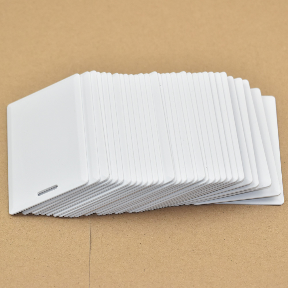 30pcs/lot 13.56MHz <font><b>ISO14443A</b></font> <font><b>UID</b></font> Changeable 1K S50 Thick Smart Card RFID Block 0 Sector Writable image