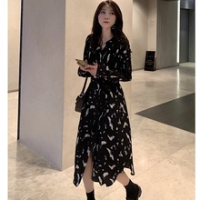 Women Maxi Dress 2019 Elegant Long Dresses Printed Sleeve V-neck Sexy