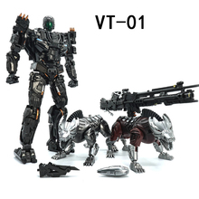 VT 01 VT01 Kill Lockdown Transformation With Two Dogs Alloy Metal KO VS UT R01 Deformation Action Figure Robot VISUAL Toys