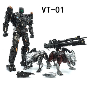 Image 1 - VT 01 VT01 Kill Lockdown Transformation With Two Dogs Alloy Metal KO VS UT R01 Deformation Action Figure Robot VISUAL Toys