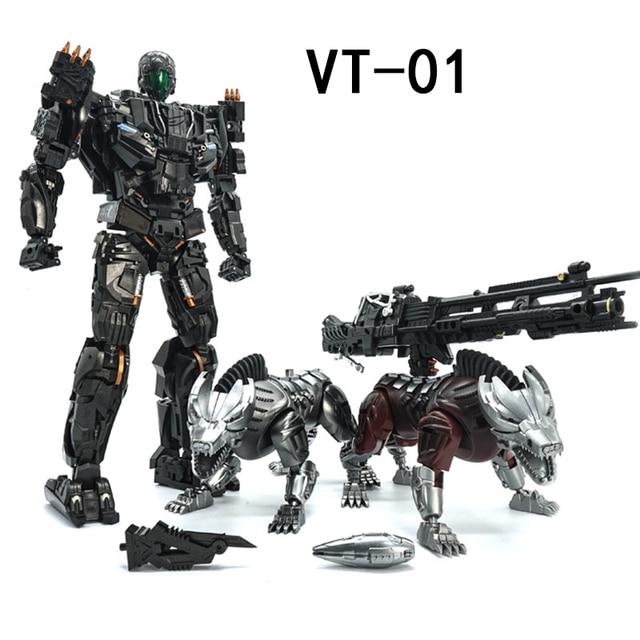 VT 01 VT01 Kill Lockdown Transformation With Two Dogs Alloy Metal KO VS UT R01 Deformation Action Figure Robot VISUAL Toys