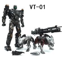 VT 01 VT01 STEELJAW Lockdow Biến Đổi Hợp Kim Kim Loại Ko VS Út R01 Hành Động Hình Robot Thị Giác Đồ Chơi Với Hai Con Chó