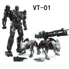 VT 01 VT01 zabij transformację blokady z dwoma psami stop metalu KO VS UT R01 deformacja figurka Robot wizualne zabawki