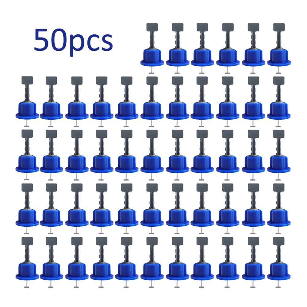 50Pcs Leveling System Kit For Tile Flat Ceramic Floor Wall Construction Tools Reusable Tile Leveling System Kittile