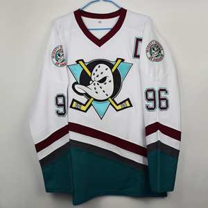 Hockey Jersey Film Version Hockey Jersey No. 96 99 White Duck White