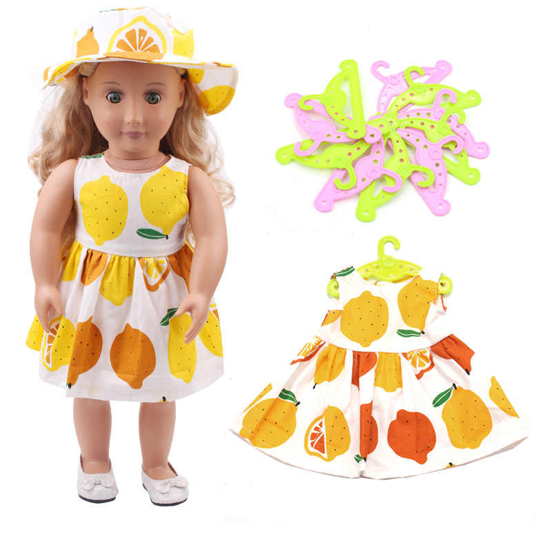 10 /5 Pcs/Lot Doll Clothes Hangers for 18 inch United States Girl Doll Accessories Or 43cm Baby Doll For Children Birthday Gift