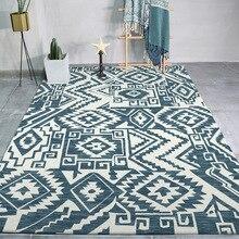 Abstract geometric tribal ethnic 3D carpet bedroom living room crystal velvet Printed digital crawling mat Non-slip foyer