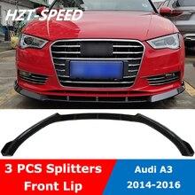 A3 3 шт. сплиттер ABS передний бампер спойлер диффузор для Audi A3 стандартный автомобильный Стайлинг