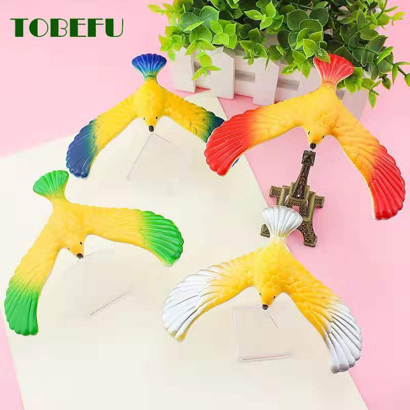 TOBEFU Amazing Funny  Balancing Eagle With Pyramid Stand Magic Bird Desk Kids Toy Fun Learn Toys Novelty Toys