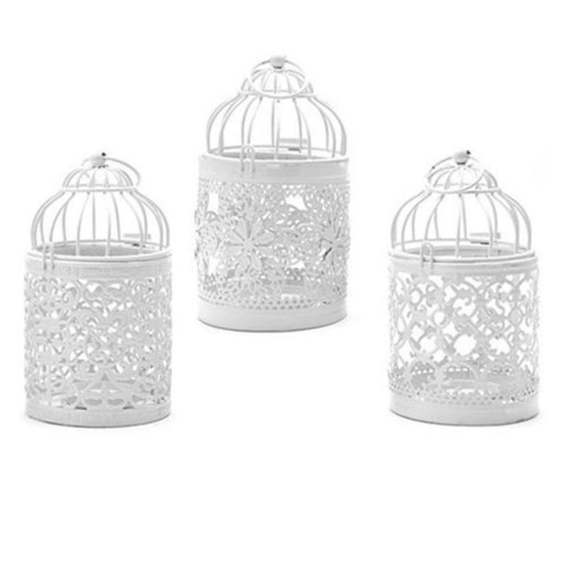 European Romantic Bird Cage Candlestick With Candle Christmas Decoration