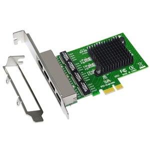 Image 5 - Network Card 4 Port Gigabit Ethernet 10/100/1000M PCI E PCI Express to 4x Gigabit Ethernet Network Card LAN Adapter for Desktops