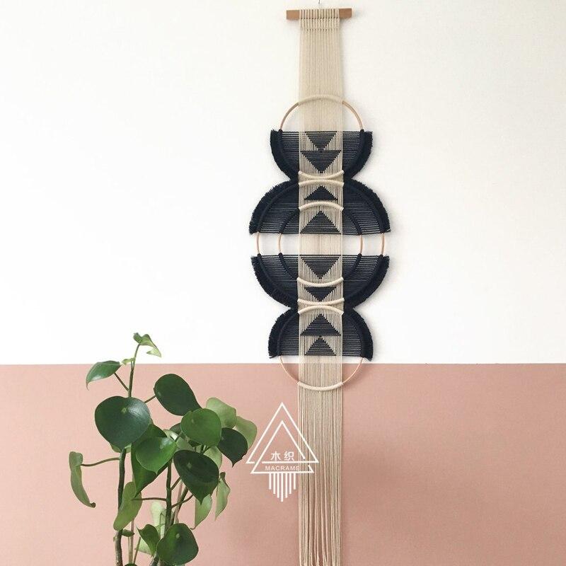 100% ручной работы творческое, настенное плетеное гобелен Скандинавское украшение домашний Ловец снов украшение для дома - 5