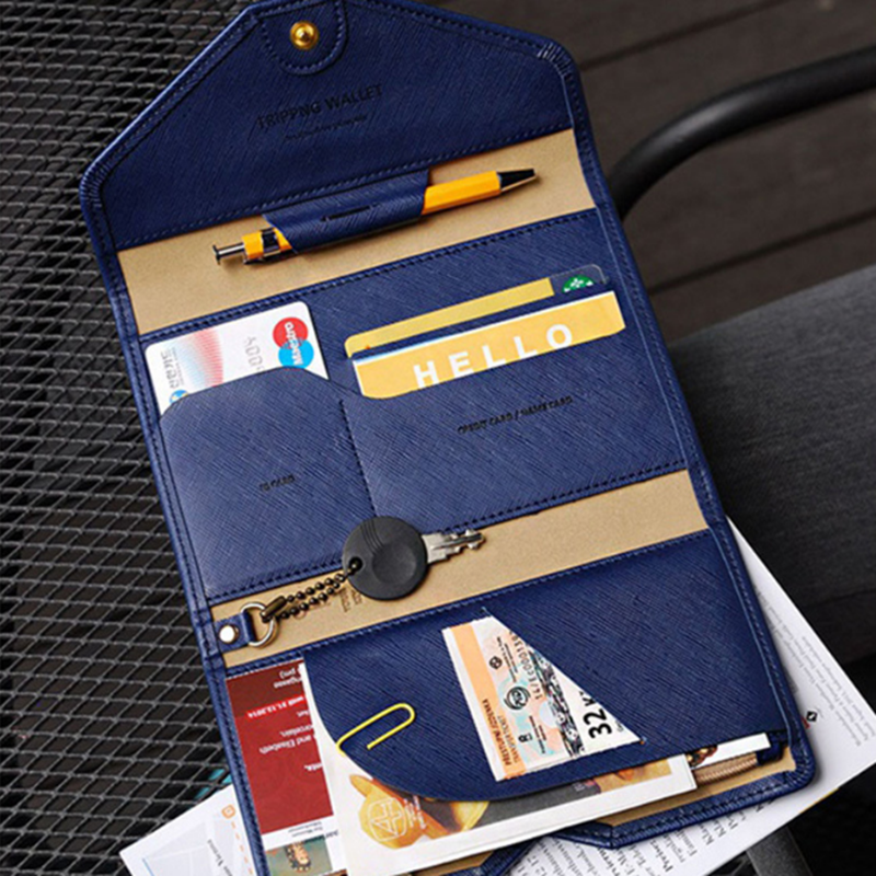 Foldable Travel Passport Cover Credit Card Holder Money Wallet ID Multifunction Documents Flight License Wallet Bag