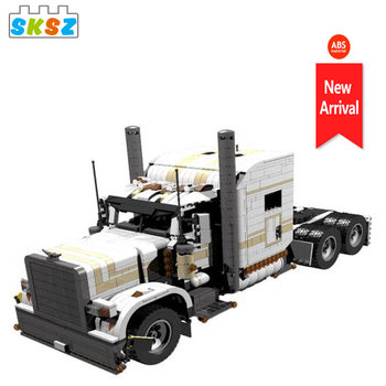 DIY City Transport Technic Engineering Dump Truck model Moc Building Blocks Vehicle Car Bricks Educational Toys for Children Boy new sembo block engineering city construction container truck fit technic building blocks toys bricks toys for children kid gift