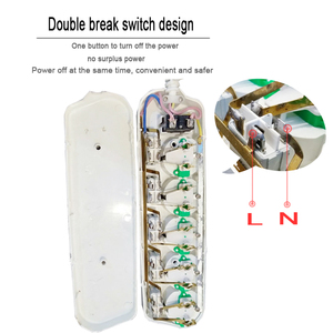 Image 5 - 6AC wyjście elektroniczny gniazdo ue zasilacz przedłużacz z wtyczką inteligentne gniazdo 1.5M 2.5M 16A 3500W oddzielne sterowanie gniazdo przełącznika