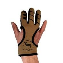 Защитная черная кожаная перчатка с 3 пальцами для стрельбы из рекурсивного блочного Лука, стрельбы из арбалета, рогатки для охоты