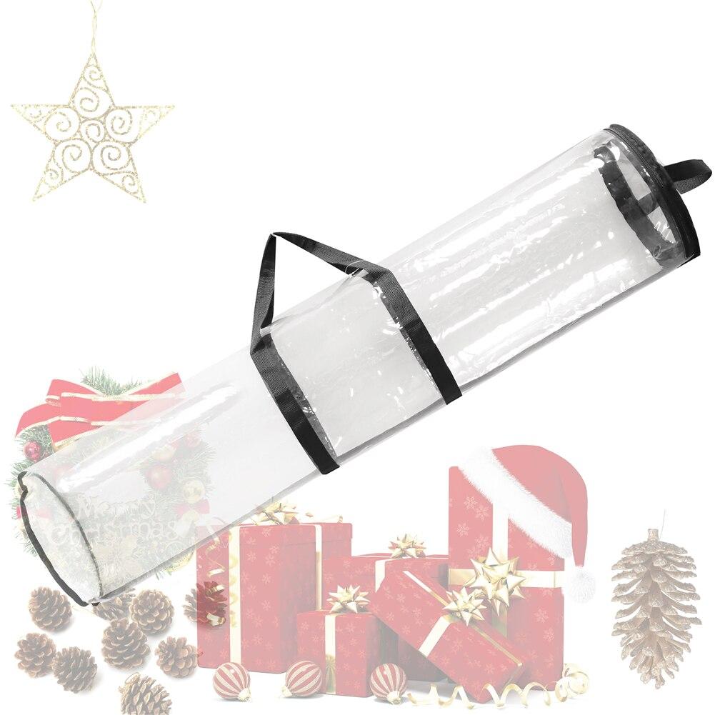 Подарок Обёрточная бумага пинг Бумага сумка для хранения Организатор мешок 40 дюймов ПВХ прозрачная сумка на молнии Обёрточная бумага с руч...