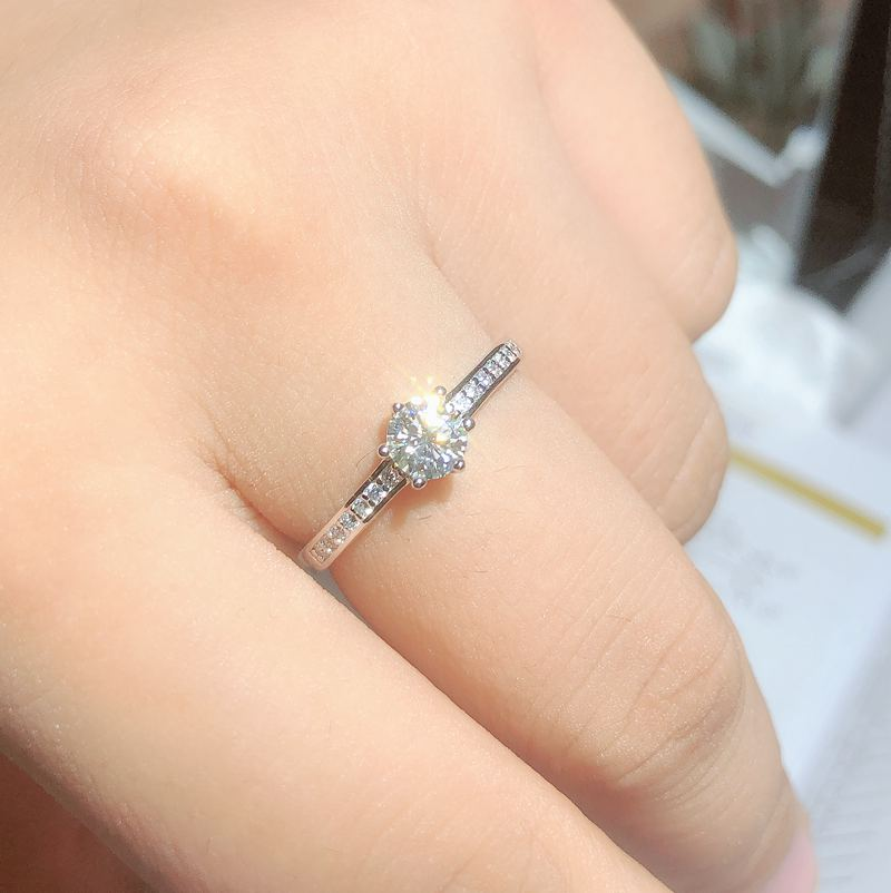 Moissanite, 925 Silver fashion design, strong fire color,diamond, high hardness 0.5ct stone
