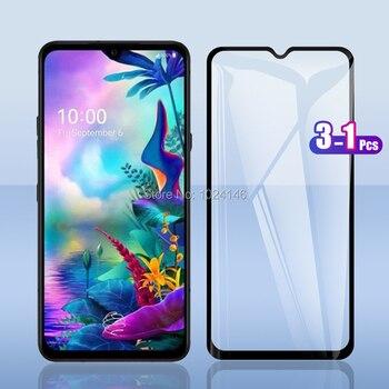 Перейти на Алиэкспресс и купить 3 шт. для LG G8X ThinQ / V50S ThinQ 5G 6,4 дюймПолное покрытие закаленное стекло Защита экрана Взрывозащищенная защитная пленка