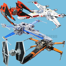 цена на New Star Series The First Order Tie X Wing Fighter Lepinings Star Wars Figures 75218 Model Building Blocks Bricks Toy Kid Gift