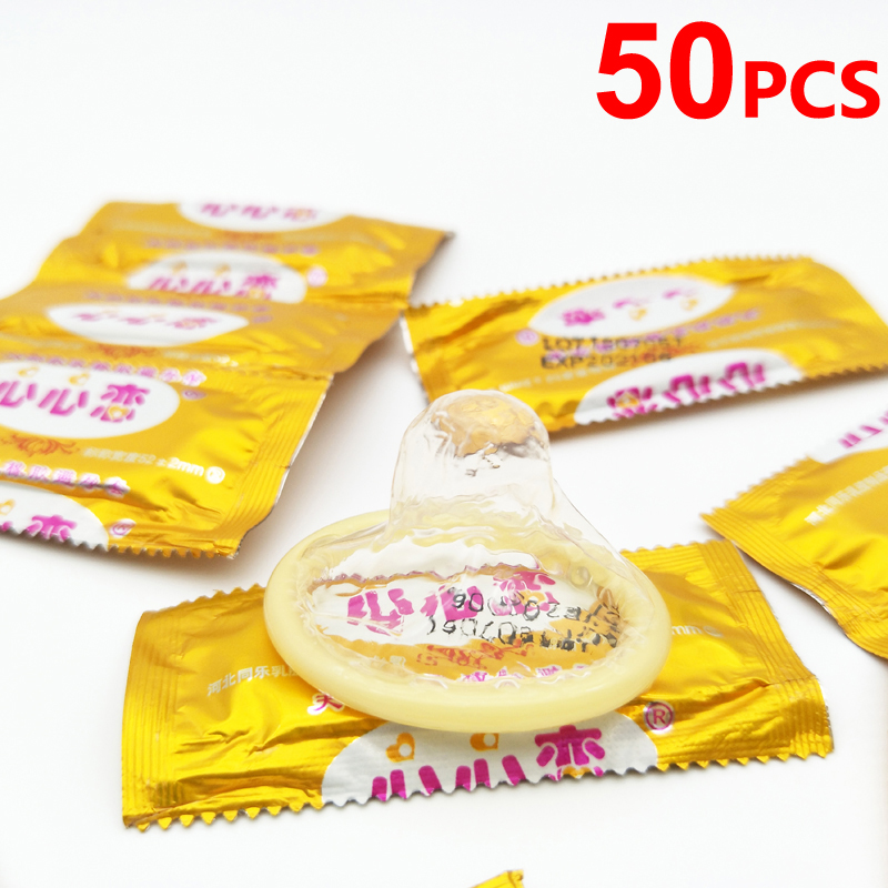 50pcs Wholesale Condoms Sex Products Best Quality Condoms With Full Oil Slim Condom For Men Safe Contraception Toys