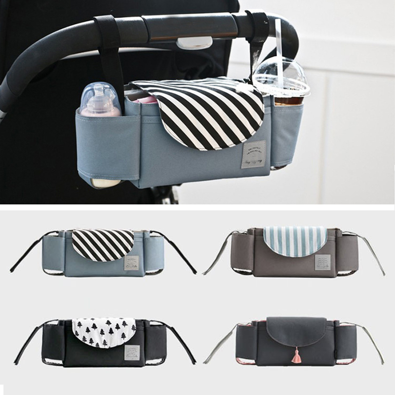 Fashion Baby Stroller Organizer Baby Prams Carriage Bottle Bag For Mom Diaper Bag Mummy Nappy Stroller Storage Bag Accessories