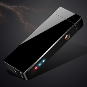 Image 5 - معدن مزدوج قوس USB قابلة للشحن ولاعة يندبروف البلازما عديمة اللهب الولاعات الكهربائية للسجائر LED عرض الطاقة
