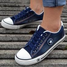 Canvas Shoes Women Sneakers Denim Vulcanized Shoes