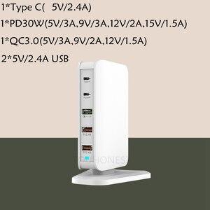 Image 2 - 68 ワット急速充電 3.0 usb タイプ c pd 30 ワット電源アダプタ充電器アップルの iphone huawei 社サムスンタブレット急速充電器英国 au 、 eu 、米国
