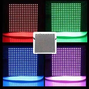 Image 3 - 1 pcsDC5V 16x16 12 dot matrix RGB soft screen Pixel WS2812B LED Digital Flexible Individually addressable Panel light H3 007