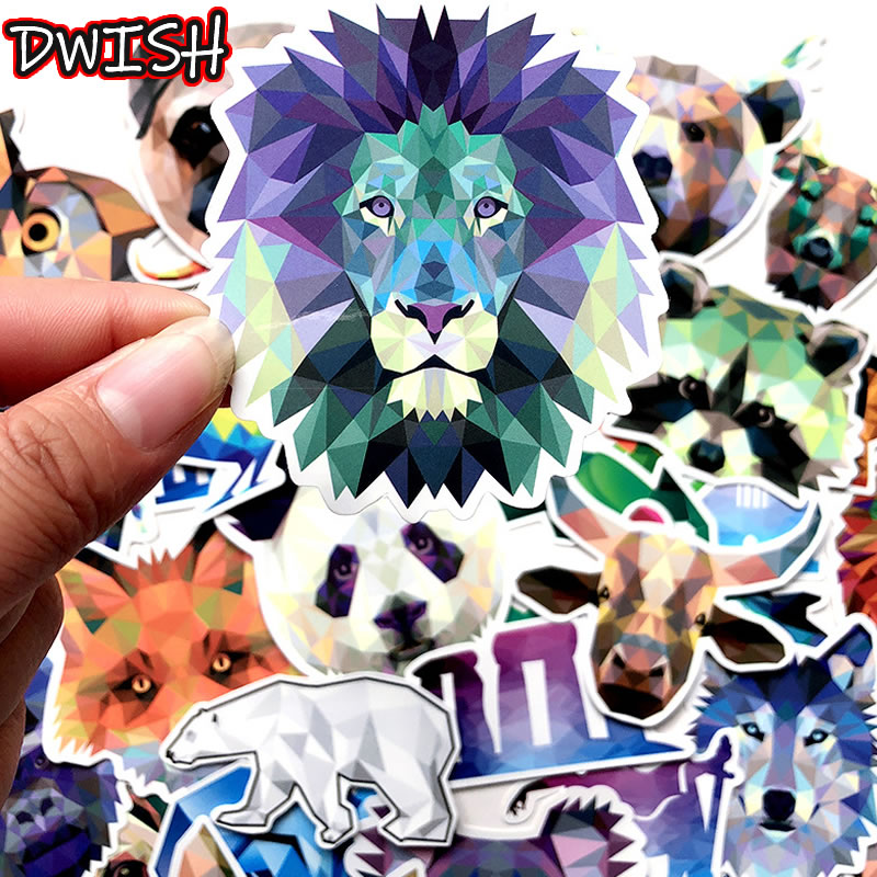 35pcs Pack Waterproof Diamond Cartoon Animal Stickers Guitar Skateboard Suitcase Vsco Girl Funny Graffiti Sticker Children Toy
