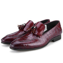 New Tassel Mens Loafer Shoes Genuine Leather Luxury Fashion