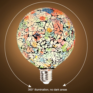 Image 5 - Design Classico Ha Condotto La Luce Colorata Lampadina Lampadario di Colore Mosaico Oro Placcato Specchio di Vetro Lampadario Palla