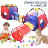 4 in 1 Kids Play Tent Playhouse Ball Pit Folding Tent Baby Play Tunnel Toy Gifts Children Girls Boys Indoor Outdoor Tent Games