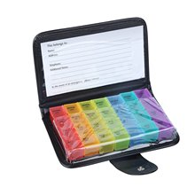 new weekly sort folding vitamin medicine pill box makeup storage case container zh065 7 Days Weekly Pill Box Storage Organizer Container Case Colorful Pill Case Splitters  28 Grids Tablet Pill Medicine Box