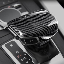 Automotive Carbon Fiber Gear Head Decorative Cover For Audi A3 A4 A5 A6 A7 Q5 Q7 S3 S6 S7 цены