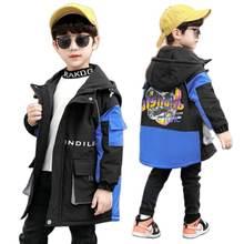Стеганое пальто для мальчиков Новинка Осень зима осенняя одежда