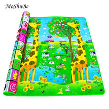 Baby Crawling Play Mat 2*1.8 Meter Climb Pad Double Side Fruit Letters And Happy Farm Baby Toys Playmat Kids Carpet Baby Game