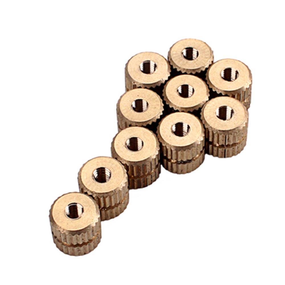 10pcs/set Brass Tenor Saxophones Sax Knurled Screw Shaft Nuts Saxophone Replacement Parts Accessories