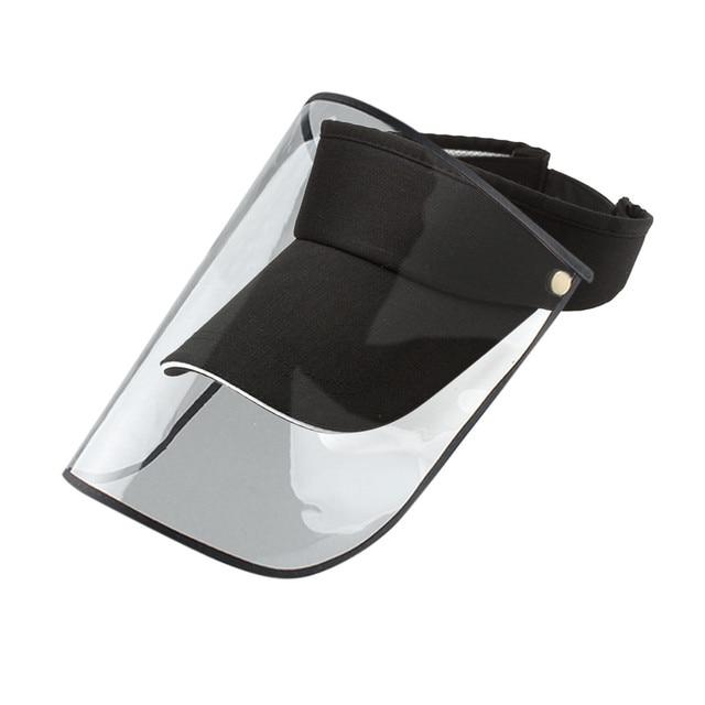 Peaked Hat Dustproof Cover Baseball Cap Adjustable Anti-spitting Protective Hat Summer Sun Hats For Women Man Gorras