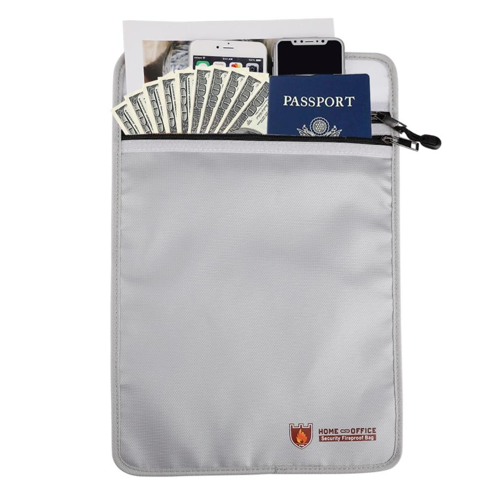 Files Folder Document Ticket Storage Bag Waterproof Large Capacity Files Organizer For Office Travel Fireproof File Folder