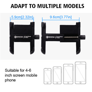 Image 4 - QC3.0 מהיר תשלום אלומיניום אופנוע טלפון מחזיק Moto כידון Rearview סוגר Stand עבור 4 6.5 אינץ טלפון נייד הר