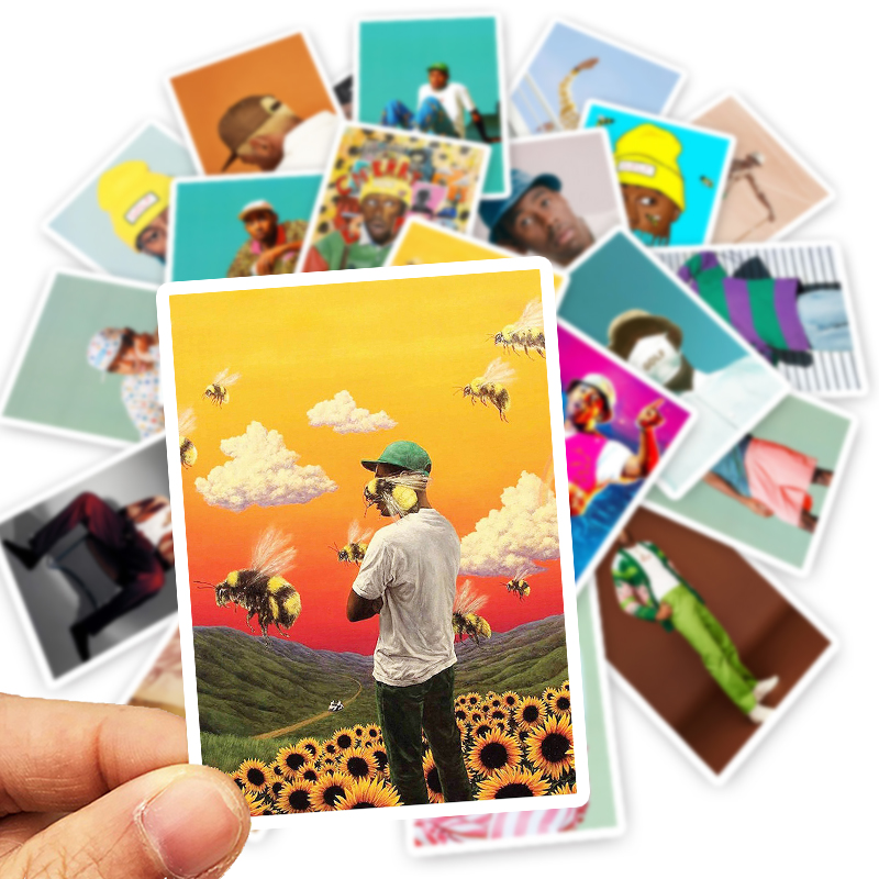 25Pcs Mixed Flower Boy Tyler The Creator Poster Stickers Waterproof PVC Decals For Luggage Laptop Phone Fridge Decor Stickers