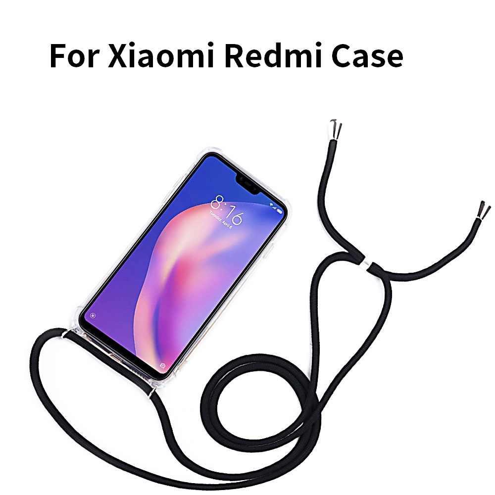 2ndSpring Funda con Cuerda Compatible con Xiaomi Mi Note 10 Lite,Colgante Collar Correa de Cuello Cadena Cord/ón,Rose Gold