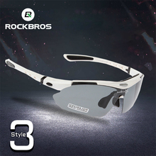 ROCKBROS Polarized 5 Lenses Cycling Sunglasses Black UV400 Glasses Bike Eyewear  For Man Fishing Bicycle 29g