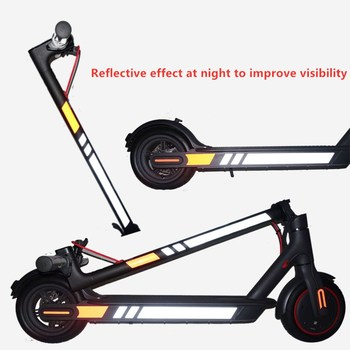 Reflective Stickers For Xiaomi M365/M187/Pro Electric Scooter Night Safety Warning Strips Waterproof Pedal Stickers Accessories image