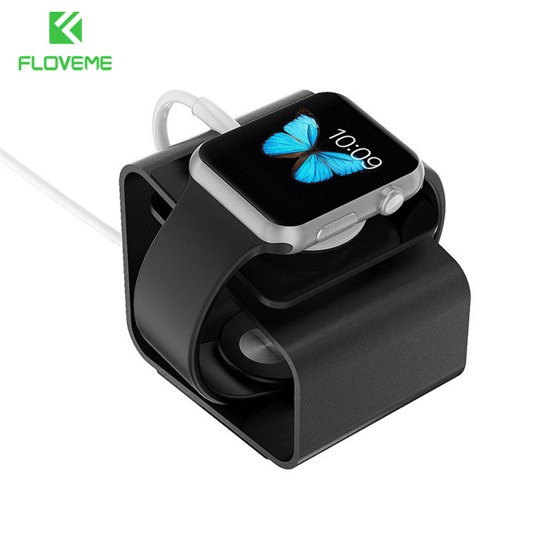 Aluminum Alloy Desk Stand Holder For Apple I Watch Portable Charger Stand Charging Dock Station For Iphone Watch Mini Portable
